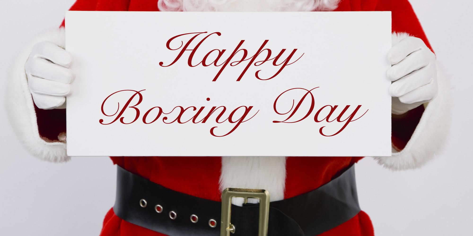 С Рождеством понятно. А что такое Boxing Day?